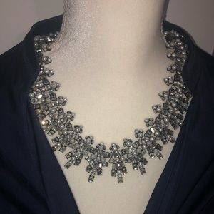 Banana Republic Statement Necklace (Pearl/Silver)